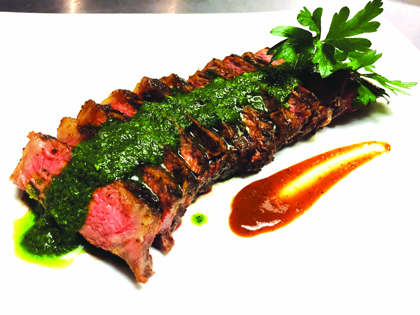 Ray Coffee Rubbed Steak Chimichurri