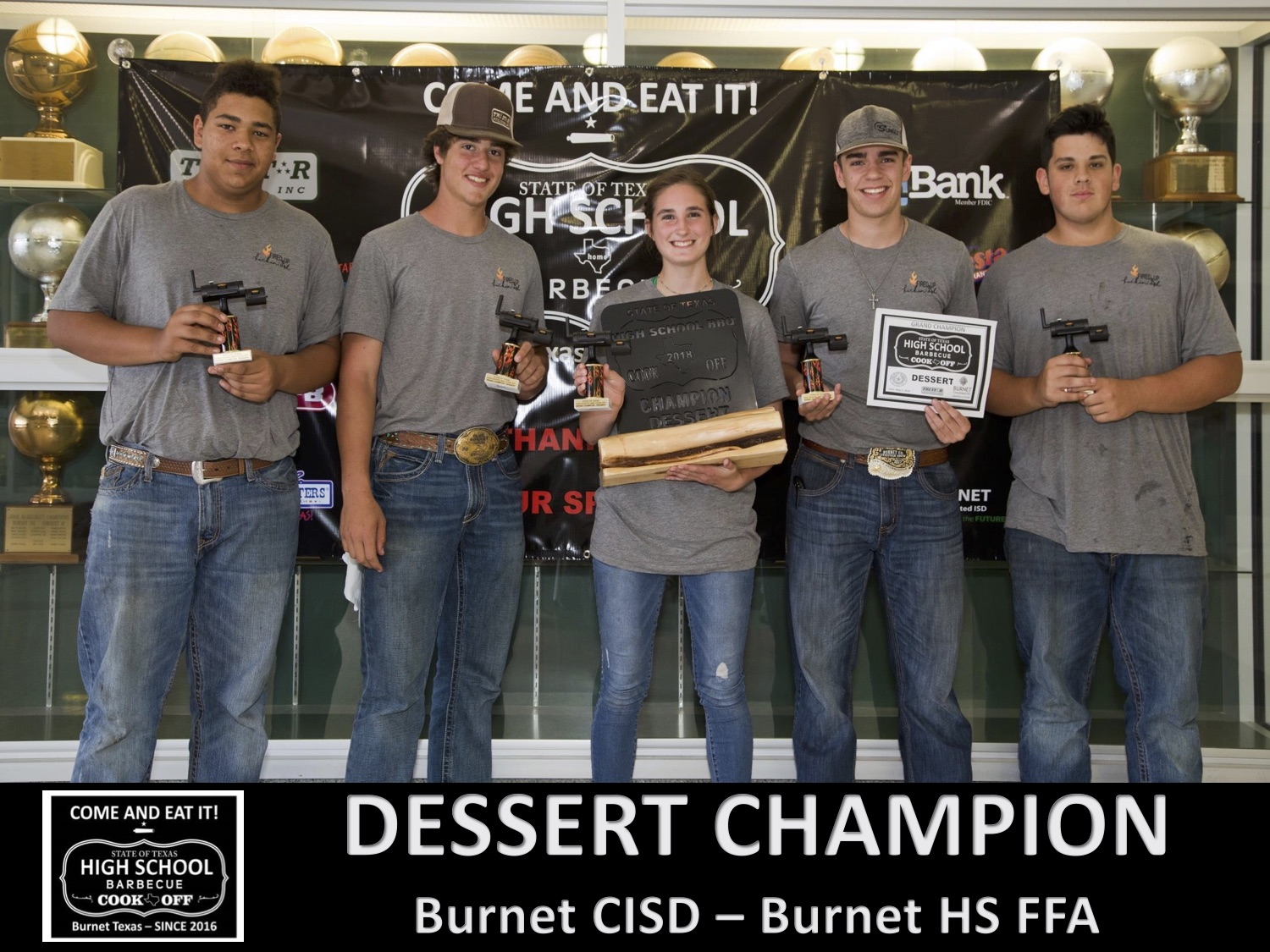 2018 Texas HS Dessert Winners