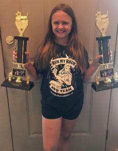 Zoe with Trophies