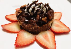 grilled chocolate bread pudding