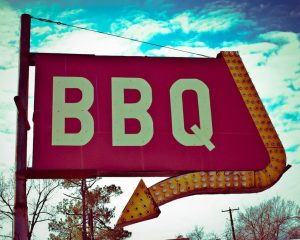 BBQ business sign