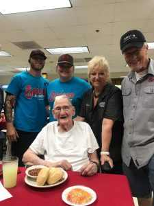 Mr. Walker and Spices Crew. 100 year old WWII vet