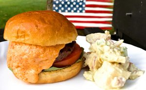 Smoked Pimento Cheese Burger