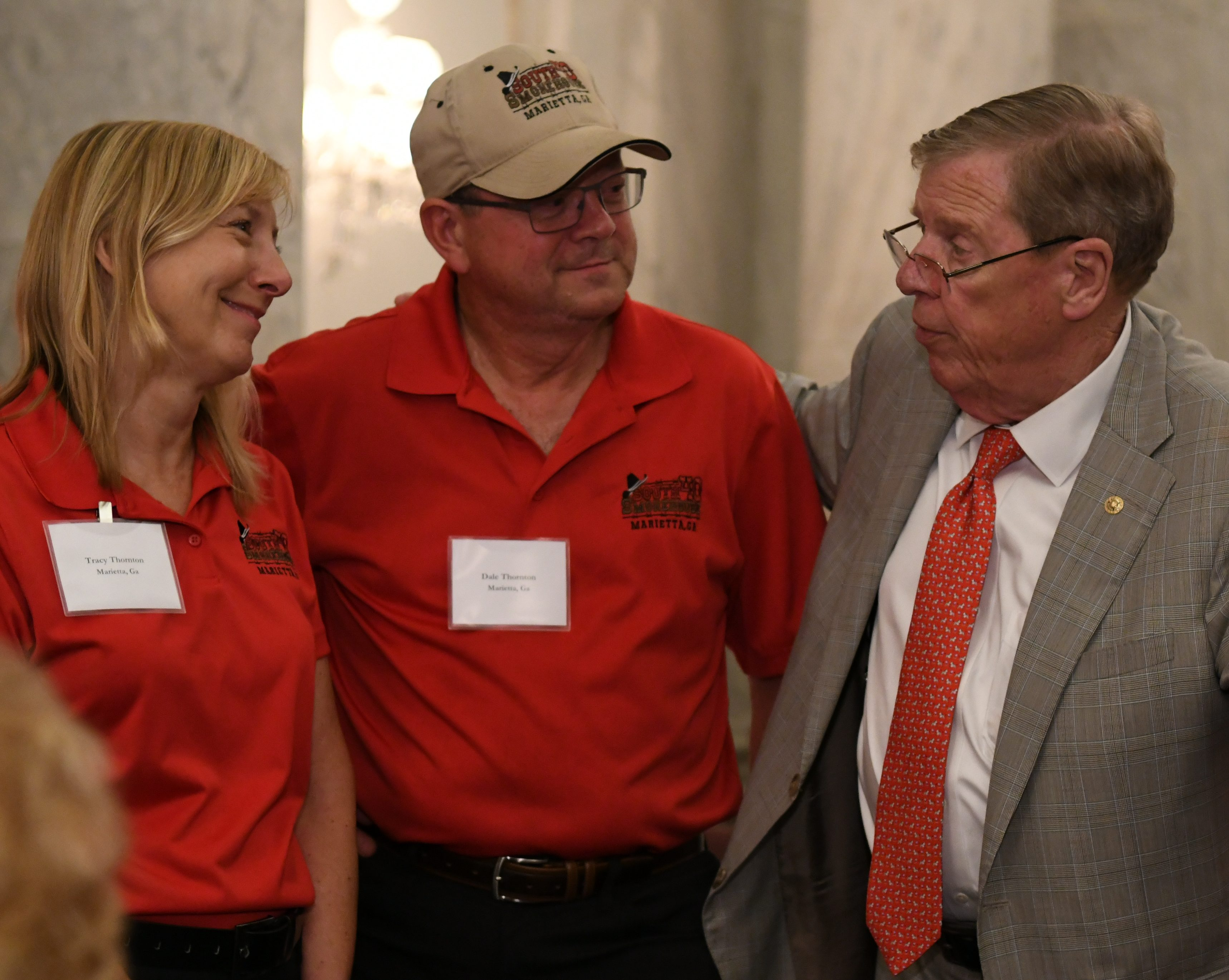 Tracey and Dale Thornton with Georgia Senator Johnny Isakson